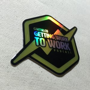 GWTW Holographic Sticker